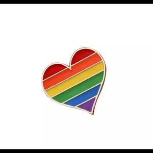 Pride Rainbow Heart Pin